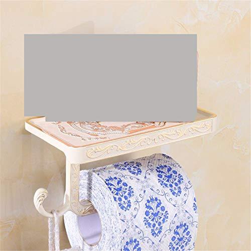 Bathroom Accessories Badaccessoires Sets Weiße Farbe Retro Europäischen Badezimmer Zubehör Anzug Falten Handtuchhalter Badezimmer, WC-Papier Rack B (Farbe Weiß)