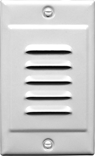 Vertical Step Light - NICOR Lighting LED Step Light with Horizontal and Vertical Faceplate, White (STP-10-120-WH)