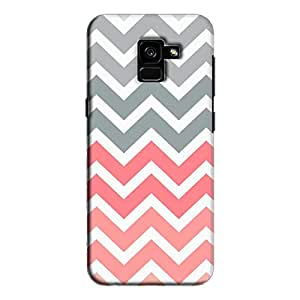 Cover It Up - Pink and Grey Jagged Galaxy A7 2018Hard Case