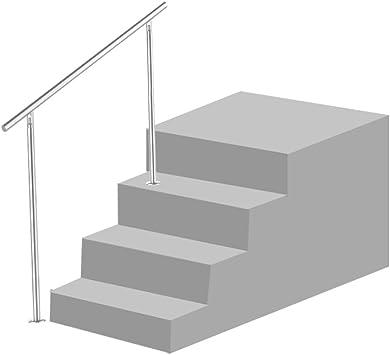 HG® Barandilla de la barandilla de la barandilla de la barandilla de la barandilla de la barandilla de la barandilla de la escalera de 150 cm con acero inoxidable: Amazon.es: Jardín