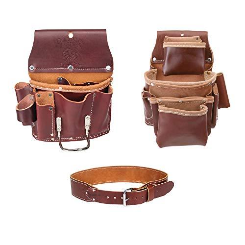 (Occidental Leather 5062 4 Pocket Pro Fastener Bag w/ 5070 Drywall Pouch & Belt S )