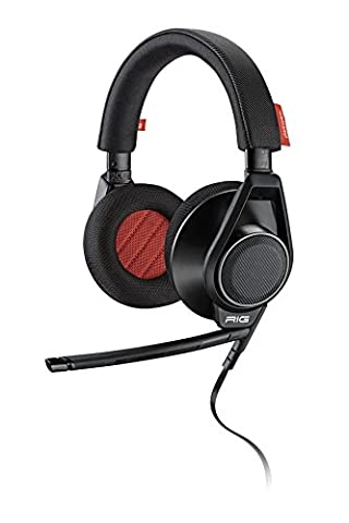 Plantronics RIG Flex Gaming Headset Two Mic Options, For Mobile Devices and PC, Mac, Black (Bluetooth Optional Headphones)