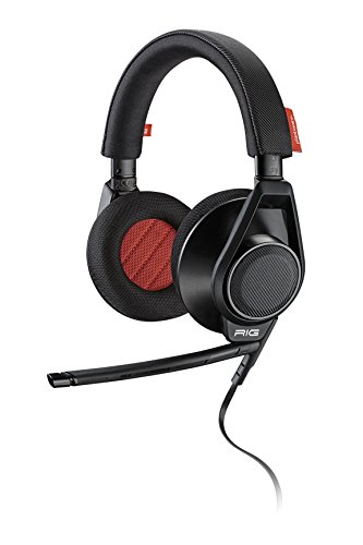 Plantronics RIG Flex Gaming Headset Two Mic Options, For Mobile Devices and PC, Mac, Black ()