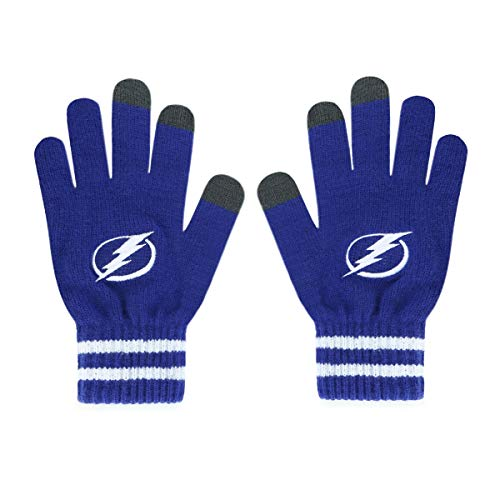 (OTS NHL Tampa Bay Lightning Male Sportsman Touch Gloves, Royal, Men's)