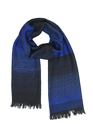 (Versace Collection Blue Medusa Ombre Scarf)