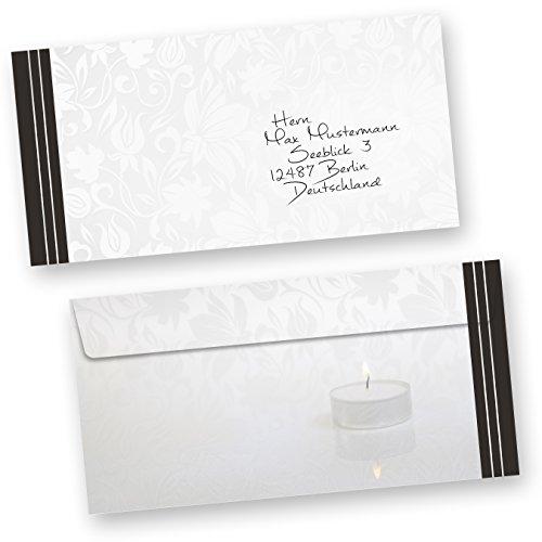 50 Sets Hochwertige Trauerkarten Klappkarten Inkl Einlegeblätter