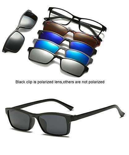 Magnet Sunglasses Clip Mirrored Clip On Sunglasses Men Polarized Custom Prescription -