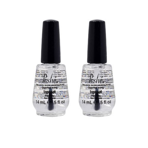 Lot 2 Poshe 0.5 OZ Super Fast Drying Top Coat Nail Polish Salon Manicure DRY -