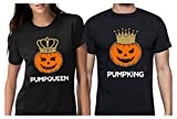 Jack O' Lantern Halloween PumpKing PumpQueen Matching Couple Shirts Horror Night PumpKing Black Small/PumpQueen Black Small