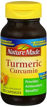 Nature Made Turmeric Curcumin 500 Milligram 60 Capsules (Pack of 2)