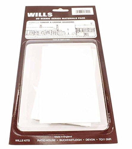 Wills kits SSMP220 Tongue and groove board sheets (4)   B00CQMPF7I