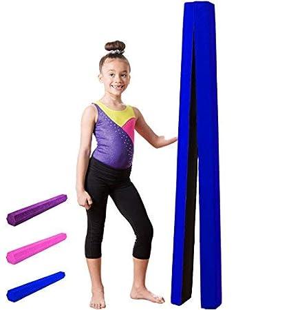509c4587be76 XTEK Gym 10ft Gymnastics Balance Beam: Folding Floor Gymnastics Equipment  for Kids, Suede Like Exterior, Non Slip Rubber Base, Gymnastics Beam for  Training, ...