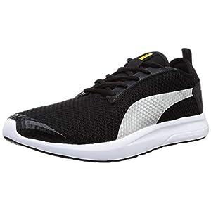 Puma Unisex's George Idp Black-Sulphur-Silver-PUM Sneakers