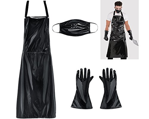 AMSCAN Butcher Costume Halloween Accessory Kit for Men, 3 Pieces, -