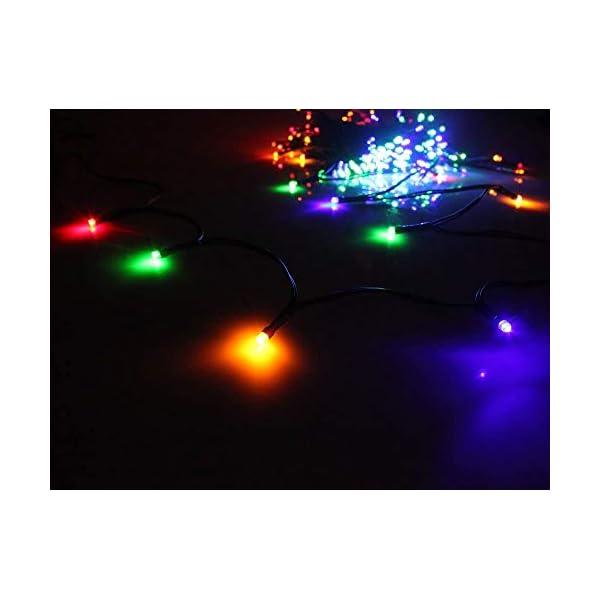 Cavo Verde Scuro Catena Luci A Led Luminoso Natalizia 500 Leds 52.8m Luce Lucciole Con Controller 8 Funzioni Ideale Per Natale Compleanni Feste (Multicolor Colori) 2 spesavip