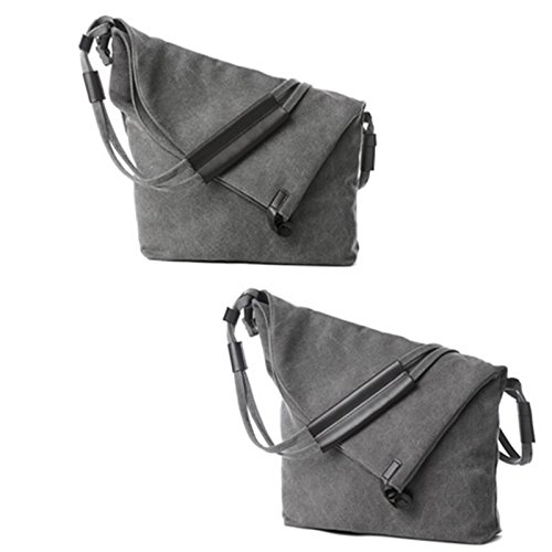 body Simple Oversize Canvas Classy Retro Unisex Tote Grey Cross Casual Hobo Messenger Shoulder Handbag 8qBtHdwp