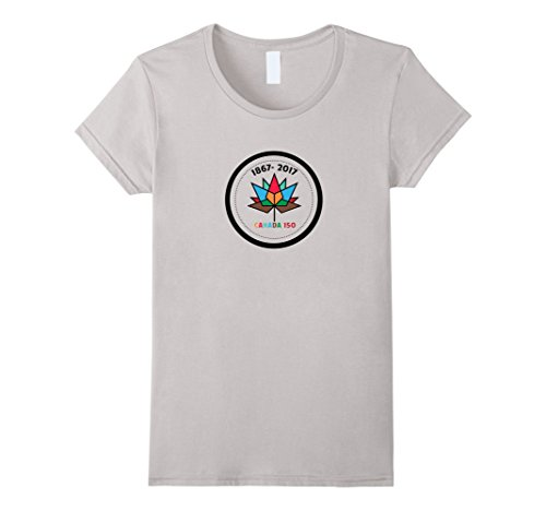 Womens Canada 150 Years T-Shirt, nice design for 150 years canada XL Silver (Design Nice Silver)