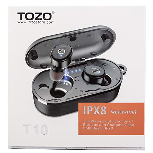 TOZO T10 Bluetooth 5.0 Wireless Earbuds with Wireless...