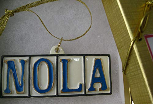 New Orleans Street Tile Ornament NOLA Christmas w/ GIFT BOX Xm New Orleans ornament decor decoration Mardi Gras wedding favor w New orleans Gift tree decor louisiana souvenir hostess French Quarter