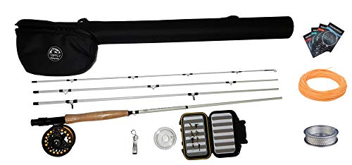 TOPFLY Fly Fishing Rod and Reel Combo, Fly Fishing 5/6 9' Rod Fly Fishing Complete Starter Package,