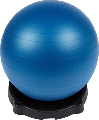 Yoga Ball Base and Stand with Blue 55 cm Exercise Ball with Pump - By Trademark Innovations