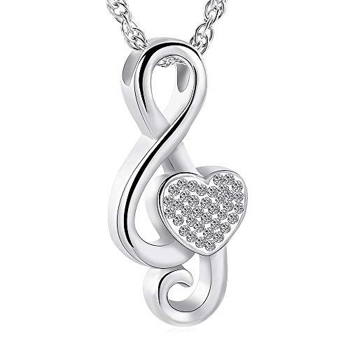 Music Note Urn Ashes Pendant Memorial Keepsake Jewelry Treble Clef Locket Ash Keepsake Holder Memorial Jewelry Fillable Jewelry