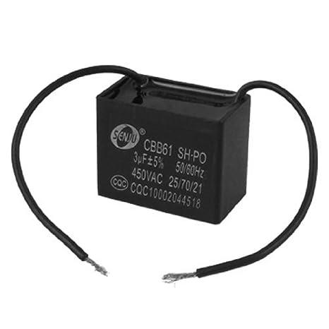 DealMux Ventilador de teto capacitor CBB61 3UF 450VAC 2 Fio 50 ...