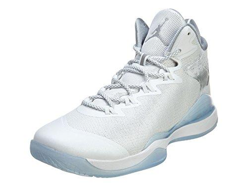 nike air jordan super.fly 3 hombres hi top zapatillos baloncesto 743665 zapatillas Color: Blanco Reflejo Plata Lobo Gris