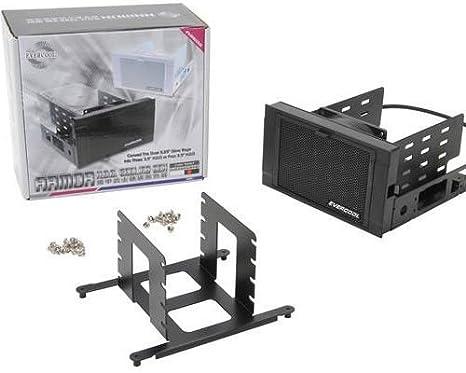 Evercool Dual 5,25 en. Bahía de la unidad a Triple 3,5 en. Disco duro caja de refrigeración: Amazon.es: Informática
