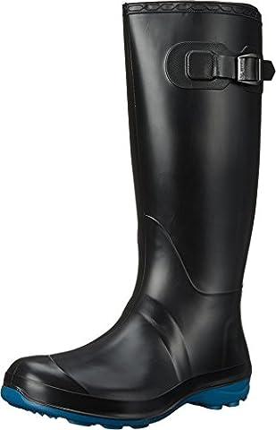 Kamik Women's Olivia Black/Ink Blue Boot 8 B (M) - Wellies