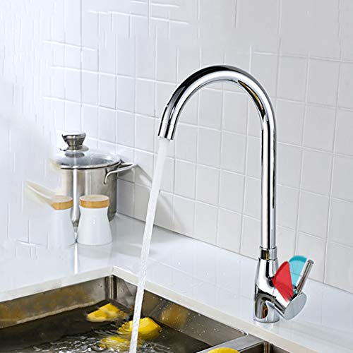 Yxx max Kitchen Bathroom Faucet Full Copper 360 Degree Rotating Hot and Cold Water Faucet by Yxx max (Image #4)
