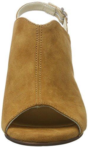 Marc O'Polo 70214021302302 High Heel Sandal - Sandalias Mujer Marrón (Cognac)