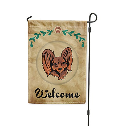 Welcome RUSSIAN TOY DOG Yard Patio House Banner Garden Flag