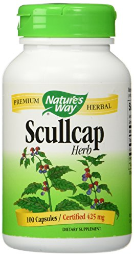 Nature's Way Scullcap Herb, 100 Capsules (Pack of 2)