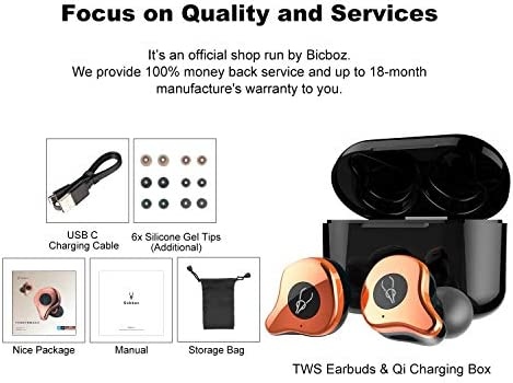 True Wireless Earbuds Bluetooth 5.0 Headphones, Sabbat 2020 Upgraded Bluetooth Earbuds with Deep Bass HD Sound, Sweatproof, CVC8.0 Noise Cancelling Built-in Mic, Wireless Earphones for iPhone/Android