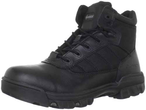 Sport Composite Toe Side Zip - Bates Men's Enforcer 5 Inch Nylon Leather Uniform Boot, Black, 10.5 M US