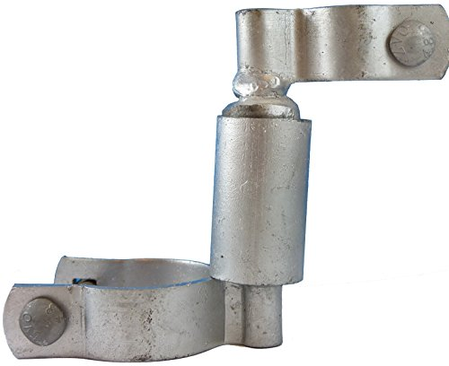 """Chain Link Gate Spring Closer for 2-3/8"""" OD Gate Post and 1-3/8"""" OD Gate Frame - Self Closing Gate Spring Closer - Gate Closer Includes Bolts"""