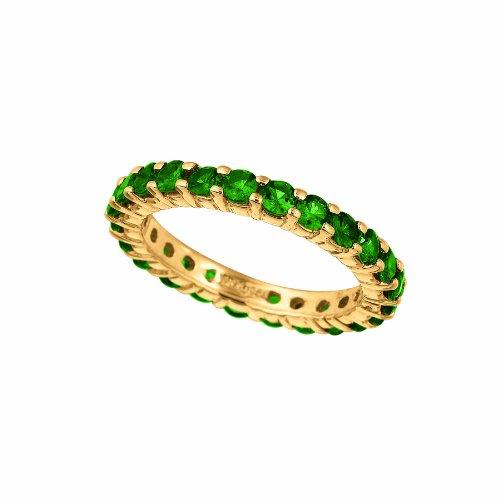 14k Yellow Gold 2.76ctw. Tsavorite Eternity Band Ring