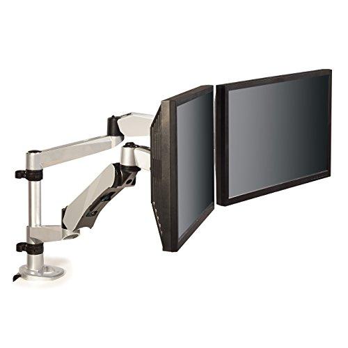 3M Easy Adjust Desk Mount Dual Monitor Arm, Adjust Height, T
