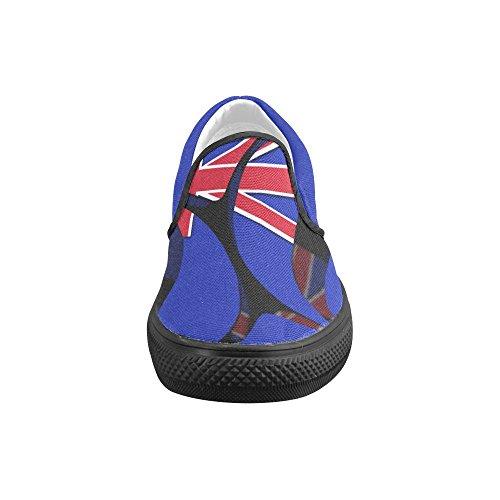 Interestprint Classique Le Drapeau De La Nouvelle-zélande Hommes Slip-on Chaussures En Toile