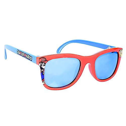 Costume Sunglasses Mario Red Frame Blue Lens Arkaid Party Favors UV400 ()