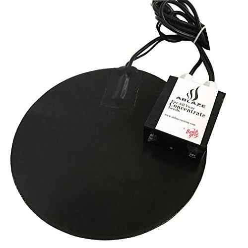 ABLAZE 10 Inch Heat Digital Heat Vac Pad for Glass Stainless Steel Aluminum Vacuum Chamber - Duty Vac