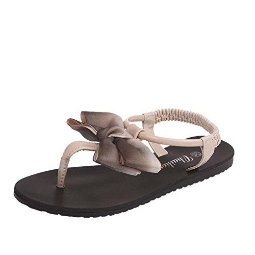 Antiscivolo Strass con Beige Estate Classic Ciabatte Styledresser Estivi Slippers Piatti da Spiaggia da Arizona Romani Sandali Colore Puro Sportivi Sandali Donna Mare Scarpe qt6fwWA
