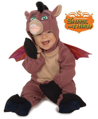 Shrek Babies Halloween Costumes (Shrek Romper And Headpiece Dronkey, 6-12 Months)