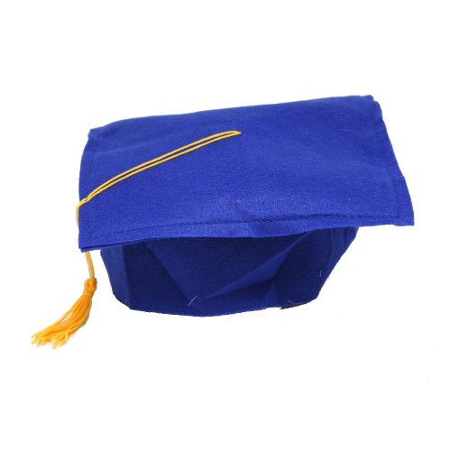 Blue Felt Graduation Cap (Kids Graduation Hat)