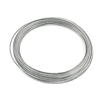 uxcell 1mm Dia 7x7 25M Long Flexible Stainless Steel Wire Cable for ...