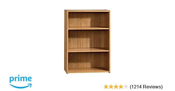 Amazon Sauder 413322 Beginnings 3 Shelf Bookcase 2456 L X 1145 W 3528 H Highland Oak Kitchen Dining