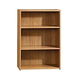 Sauder Beginnings 3-Shelf Bookcase, Highland Oak