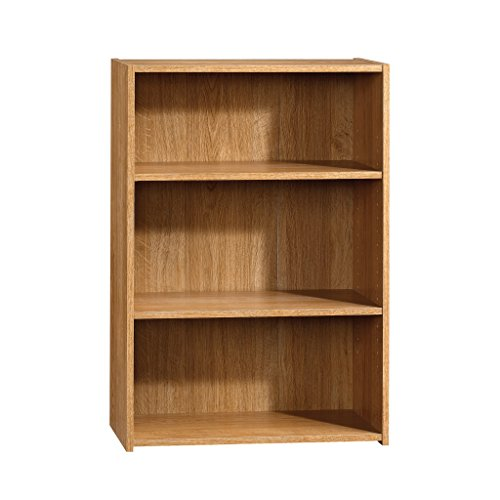 Sauder 413322 Beginnings 3-Shelf Bookcase, 24.56 L x 11.45 W x 35.28 H, Highland Oak finish