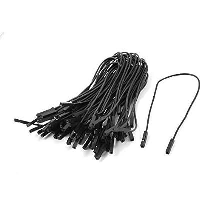 Amazon.com: eDealMax 40pcs hembra a hembra placa sin soldadura de alambre de Puente Negro: Electronics